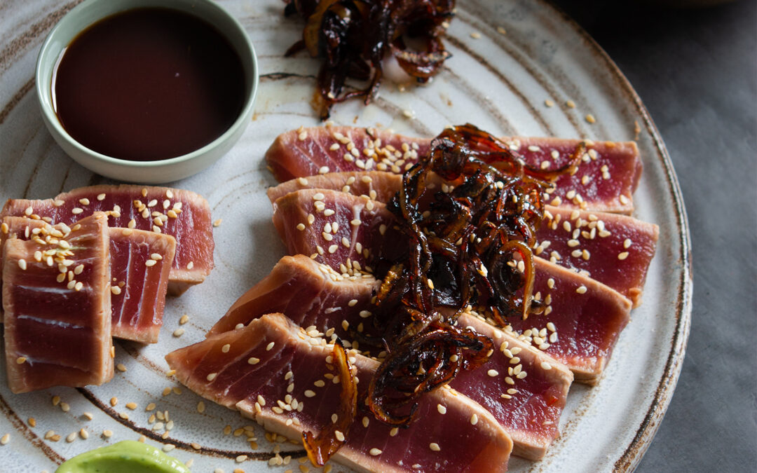 Tuna Tataki with Ponzu sauce